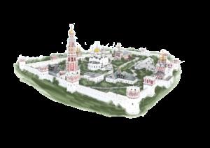 Схема Новодевичьего монастыря
