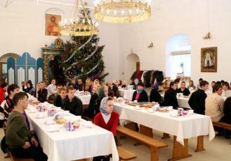 Встреча с молодежью в Новодевичьем монастыре