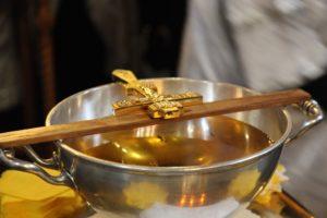 Елеосвящение в Новодевичьем монастыре
